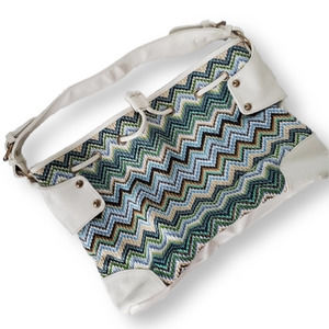 MMS Design Studio Shoulder Bag Aqua Cream
